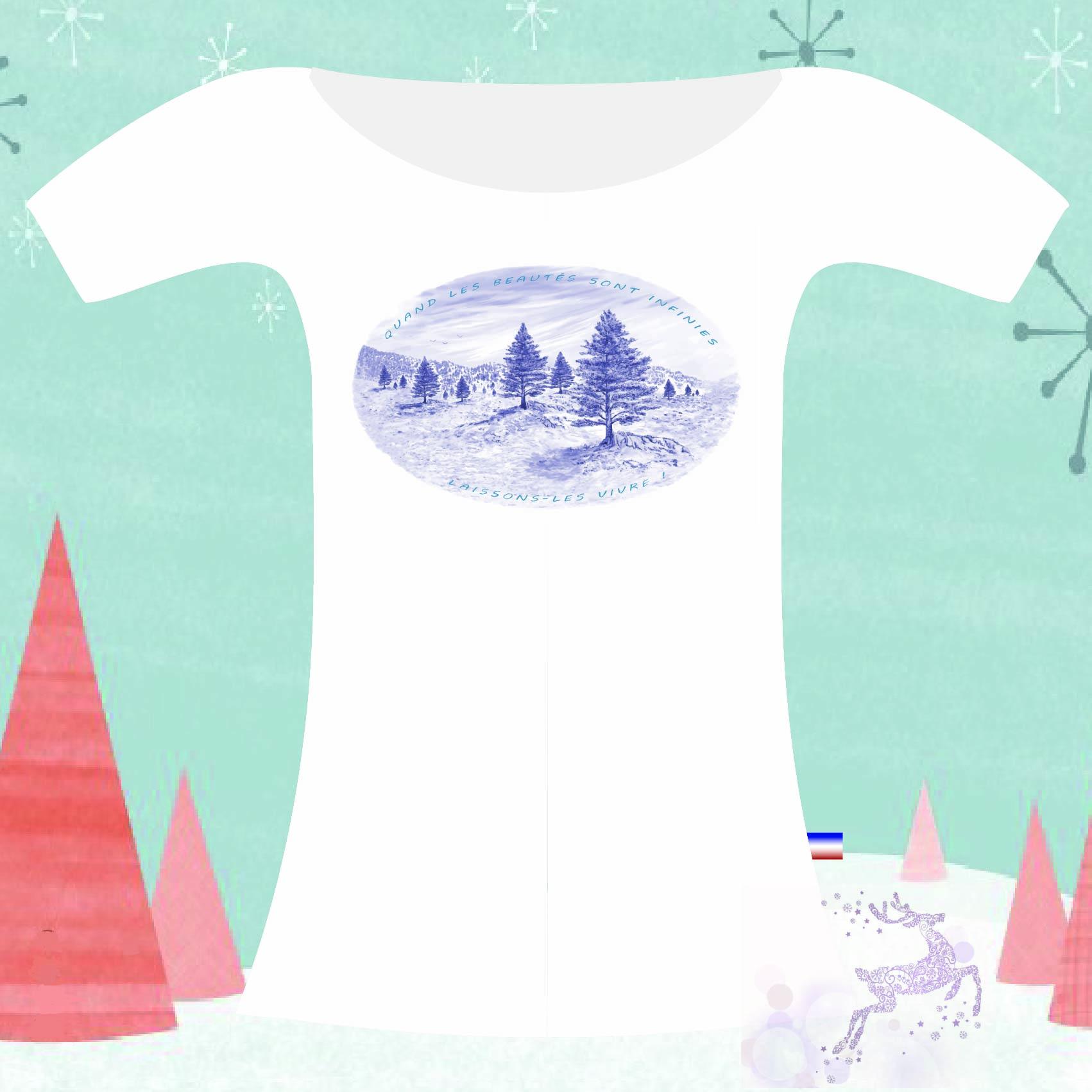 T-shirt quand les beautés sont infinies laissons-les vivre de robin millie