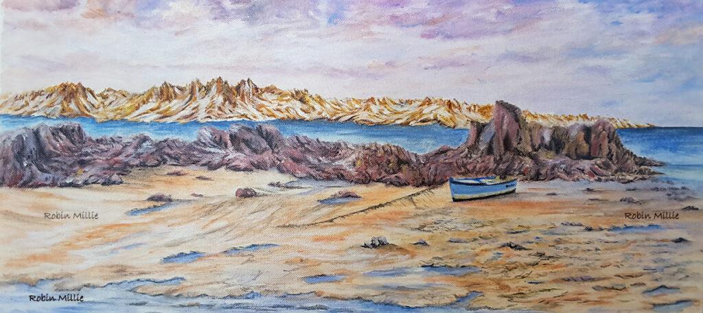 Peinture de montagne de Robin Millie